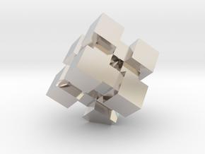 WeightCube Paperweight in Platinum