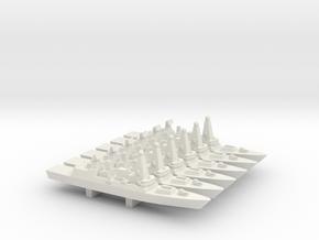 Type 45 DDG x 6, 1/3000 in White Natural Versatile Plastic