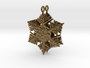 Snowflake Earrings - style H in Natural Bronze