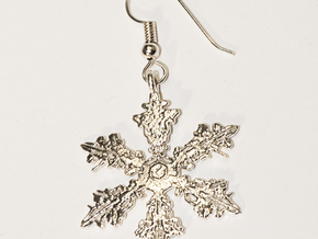Snowflake Pendant - Style J in Natural Silver