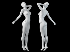 1:24 1:10 Bikini Girl 016 in White Natural Versatile Plastic: 1:10