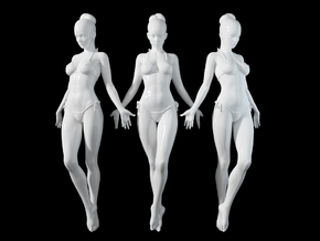 1:24 1:10 Bikini Girl 019 in White Natural Versatile Plastic: 1:10