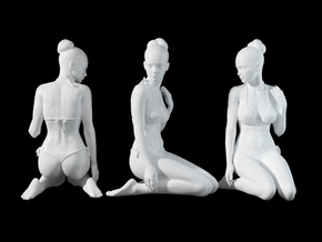 1:24 1:10 Bikini Girl 020 in White Natural Versatile Plastic: 1:10