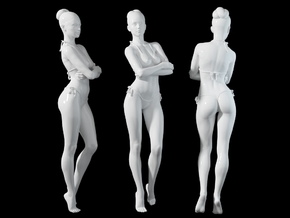 1:24 1:10 Bikini Girl 014 in White Natural Versatile Plastic: 1:10