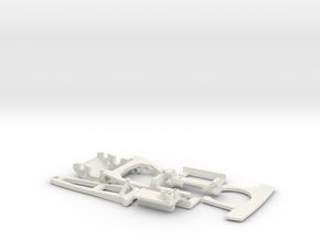 Slotcar racing Chassis 1:32 scale -update - EVO II in White Natural Versatile Plastic