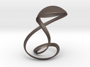 The arms and cap in Polished Bronzed Silver Steel: Extra Small