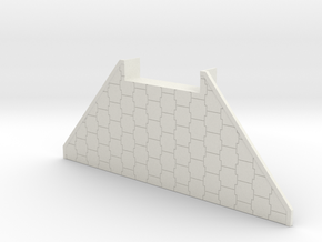 Abutment 45mm Bridge in White Natural Versatile Plastic