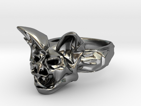 Bat Ring Size 10 in Polished Silver