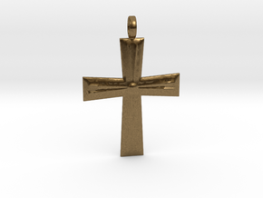 Cross Pendant in Natural Bronze