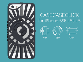 for iPhone 5SE - 5s - 5 : redial : CASECASE CLICK  in Black Strong & Flexible