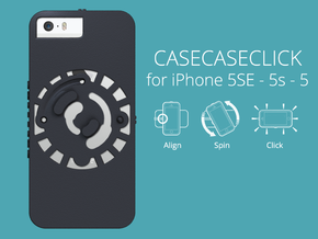for iPhone 5SE - 5s - 5 : smooth : CASECASE CLICK  in Black Natural Versatile Plastic