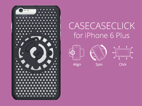 for iPhone 6 Plus : cel : CASECASE CLICK in Black Strong & Flexible