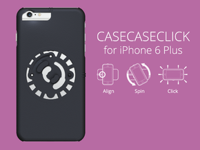 for iPhone 6 Plus : smooth : CASECASE CLICK  in Black Strong & Flexible