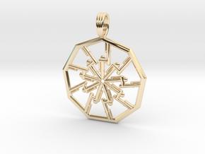 VORTEX PIPELINE in 14k Gold Plated Brass