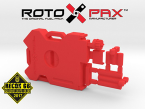 AJ10012 RotopaX 2 Gallon Fuel Pack - RED in Red Strong & Flexible Polished