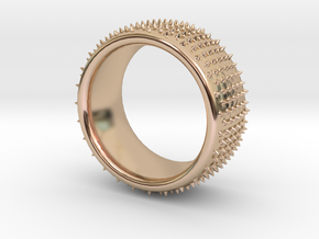 Dot 1 ring in 14k Rose Gold Plated Brass: 9.5 / 60.25