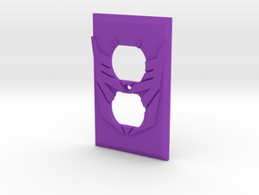 Decepticon Symbol Power Outlet Plate in Purple Strong & Flexible Polished