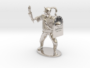 Goblin Miniature (MM Cover) in Rhodium Plated Brass: 1:60.96