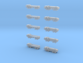 HEMTT Cargo Truck And Tanker Convoy 1 600 Scale in Frosted Extreme Detail