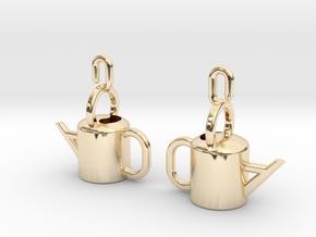 Watering Can Earrings in 14k Gold Plated Brass