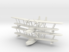 Supermarine Stranraer (2 models) 6mm 1/285 in White Natural Versatile Plastic