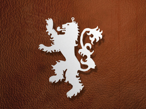 Lannister Ornament / Pendant in White Natural Versatile Plastic