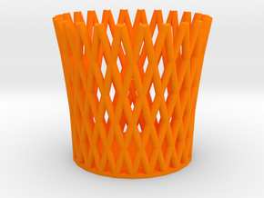 Pencil Cup in Orange Processed Versatile Plastic