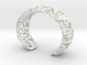 Bracelet K22h in White Natural Versatile Plastic