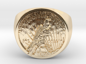 One Dollar 1921 in 14k Gold Plated Brass