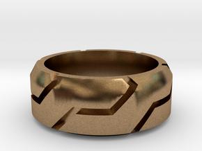 Spiral Ring in Natural Brass