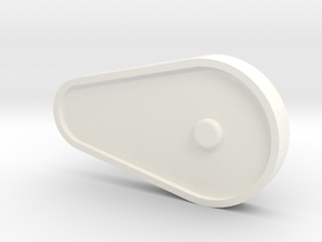 Whirlwind Tail Drive Chain Cover in White Processed Versatile Plastic