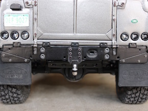 Defender Rear Bumper - All Options in Polished Bronzed Silver Steel