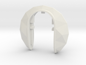 DIAMOND KEY FOB in White Natural Versatile Plastic