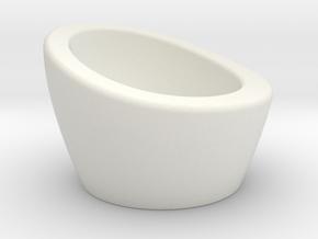 NEST Egg Cup in White Natural Versatile Plastic