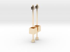Dangling Cube Earrings - Minimal Geometric Jewelry in 14k Gold Plated Brass