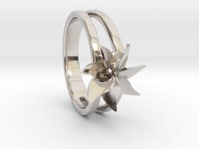 Flower Ring Size 5.5 in Platinum
