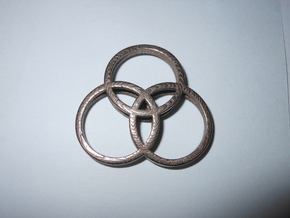 Zep Symbol 04 in Polished Bronzed Silver Steel