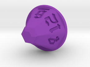 Jewel 12 Sided Die in Purple Strong & Flexible Polished