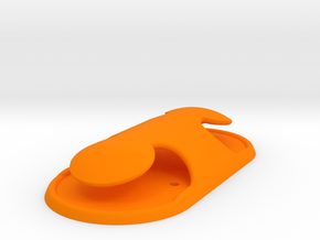 Safety Hanger, Dual Horn (v.2) in Orange Processed Versatile Plastic