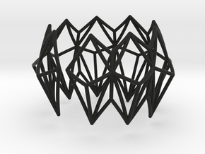 Rhombus Bracelet in Black Natural Versatile Plastic