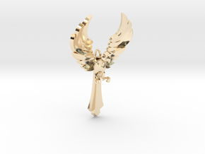 Parrot Pendant in 14K Yellow Gold