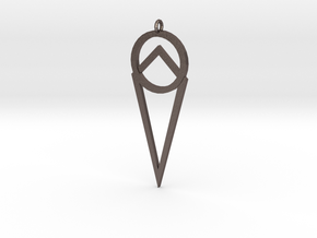 Alchemists Pendant in Polished Bronzed Silver Steel
