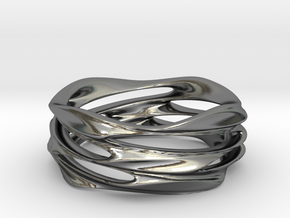 Whirlwind Ring in Polished Silver