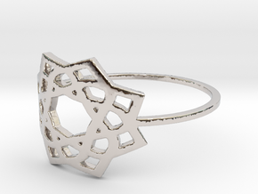 Lily (Size 4-13) in Rhodium Plated Brass: 4 / 46.5