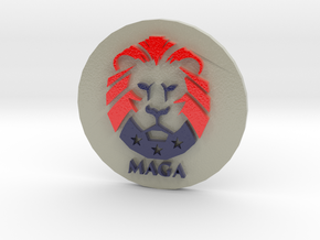 MAGA Challenge Coin in Glossy Full Color Sandstone