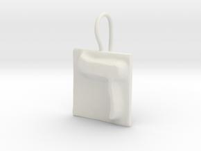 04 Dalet Earring in White Natural Versatile Plastic