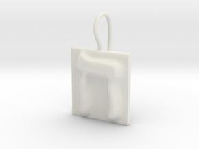 08 Het Earring in White Natural Versatile Plastic