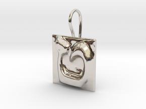 09 Tet Earring in Rhodium Plated Brass