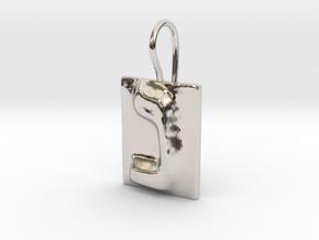 14 Nun Earring in Rhodium Plated Brass