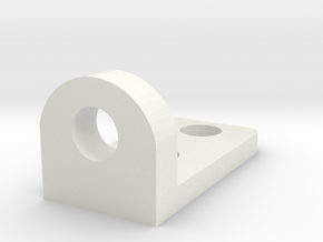 R44 Door Hinge Part2 in White Natural Versatile Plastic